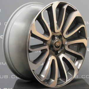 "Genuine Land Rover Range Rover L405 L494 22"" Style 16 7007 Grey & Diamond Turned Alloy Wheels LR039141"