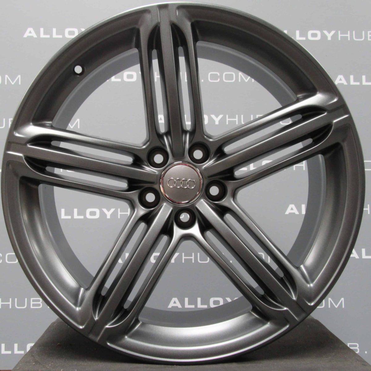 "Genuine Audi Q5 8R S-line Black Edition 5 Segment Spoke 20"" inch Alloy Wheels with Titanium Grey Finish 8R0 601 025 BG"
