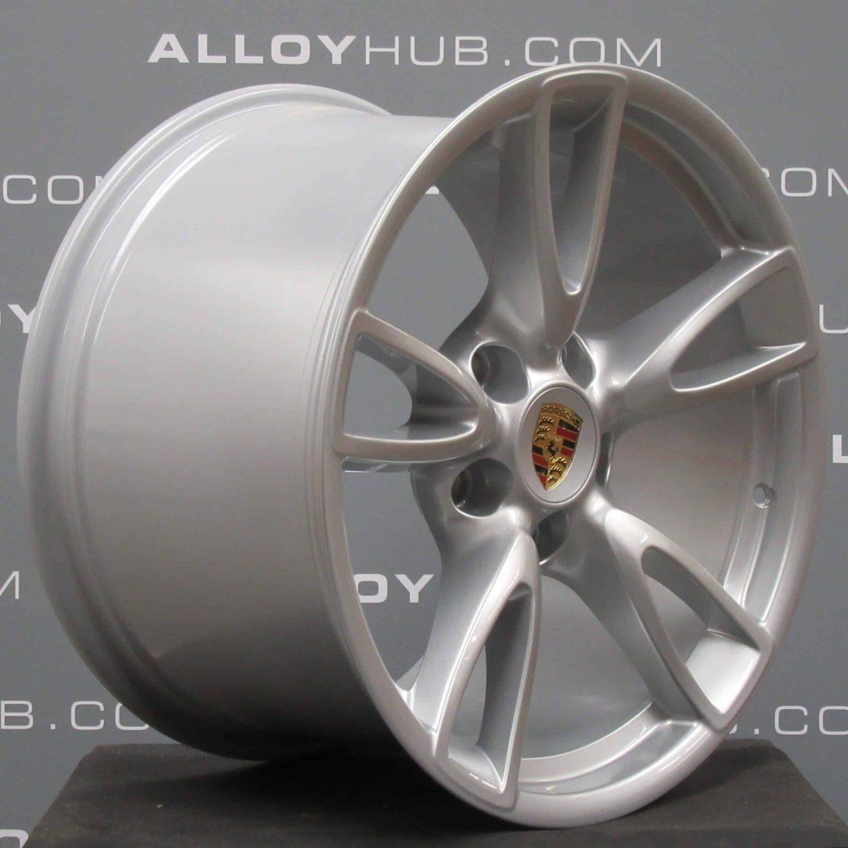 Porsche 911 997 Carrera 2/2S Gen 2 5 Twin Spoke 18″ Silver Alloy Wheel