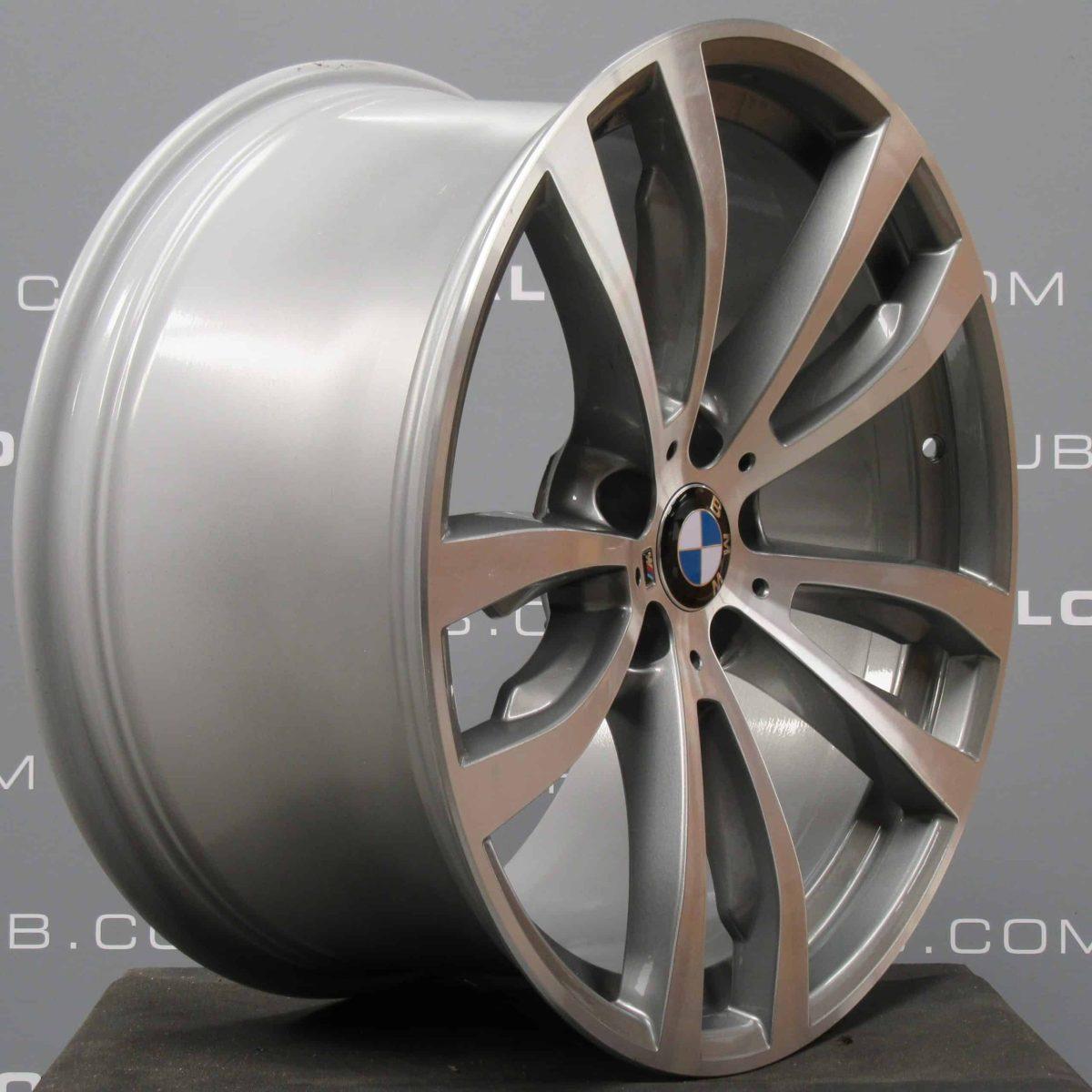 Genuine BMW X5/X6 F15 F16 Style 469M Sport Grey/Diamond Turned 20″ inch 5 Twin Spoke Alloy Wheels 36117846790 36117846791