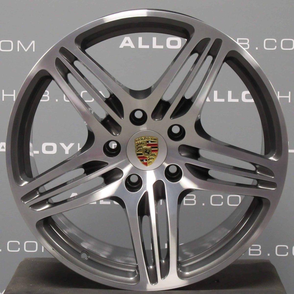 "Genuine Porsche 911 997 Turbo II 19"" Inch Alloy Wheels with Grey & Diamond Turned Finish 99736215605 99736216202"