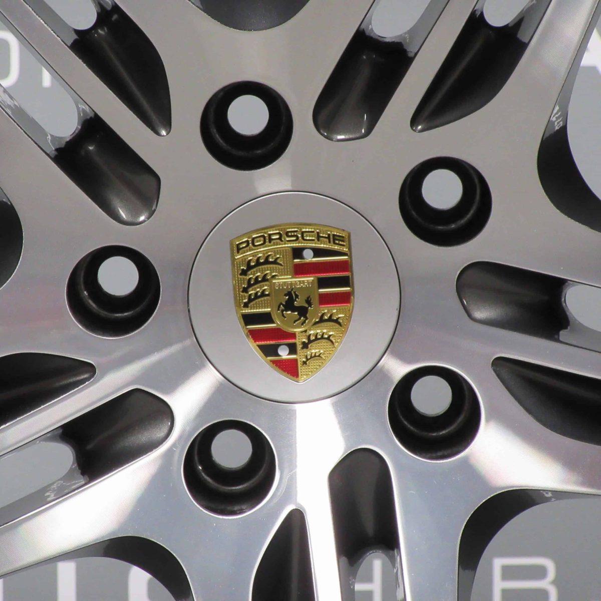 "Porsche 911 997 Turbo II 19"" Grey/Diamond Turned Alloy Wheel"