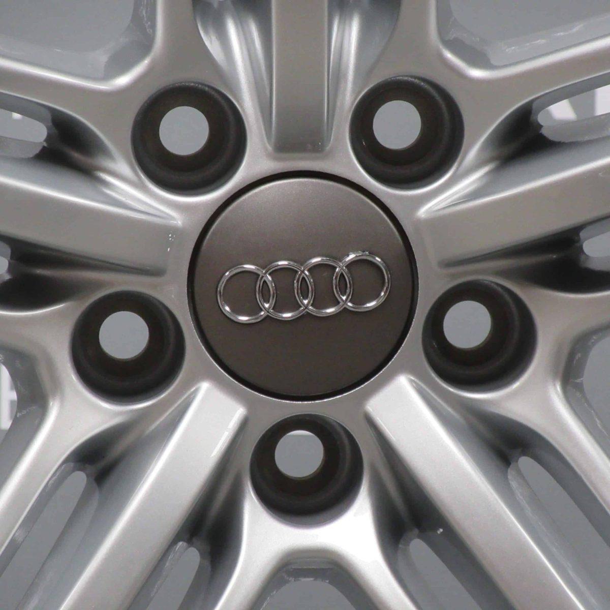 "Genuine Audi Q5 8R S-line Black Edition 5 Segment Spoke 20"" Inch Alloy Wheels with Silver Finish 8R0 601 025 BG"