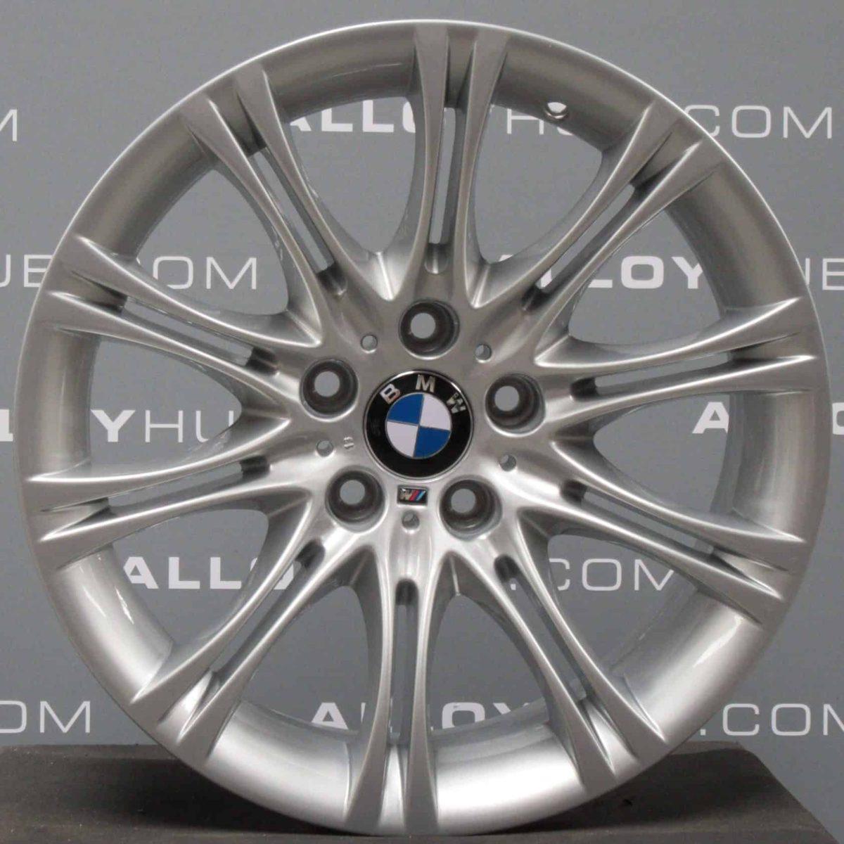 "Genuine BMW 5 Series E60 E61 Style 135M Sport MV2 18"" inch 10 Spoke Alloy Wheels with Silver Finish 3611036947"