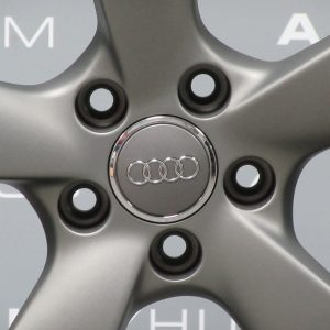 """Genuine Audi A7 A8 S7 S8 RS7 4G 4H Rotor Arm 5 Spoke 21"""" Inch Alloy Wheels with Grey & Diamond Turned Finish 4H0 601 025 AT 4H0 601 025 BA"""