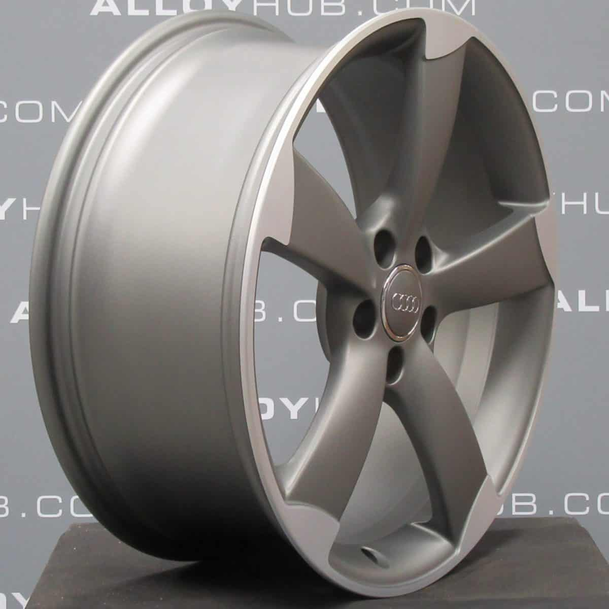 """Genuine Audi A5 S5 RS5 8T Rotor 20"""" Inch Rotor Arm Alloy Wheels with Grey & Diamond Turned Finish 8T0 601 025 CP"""