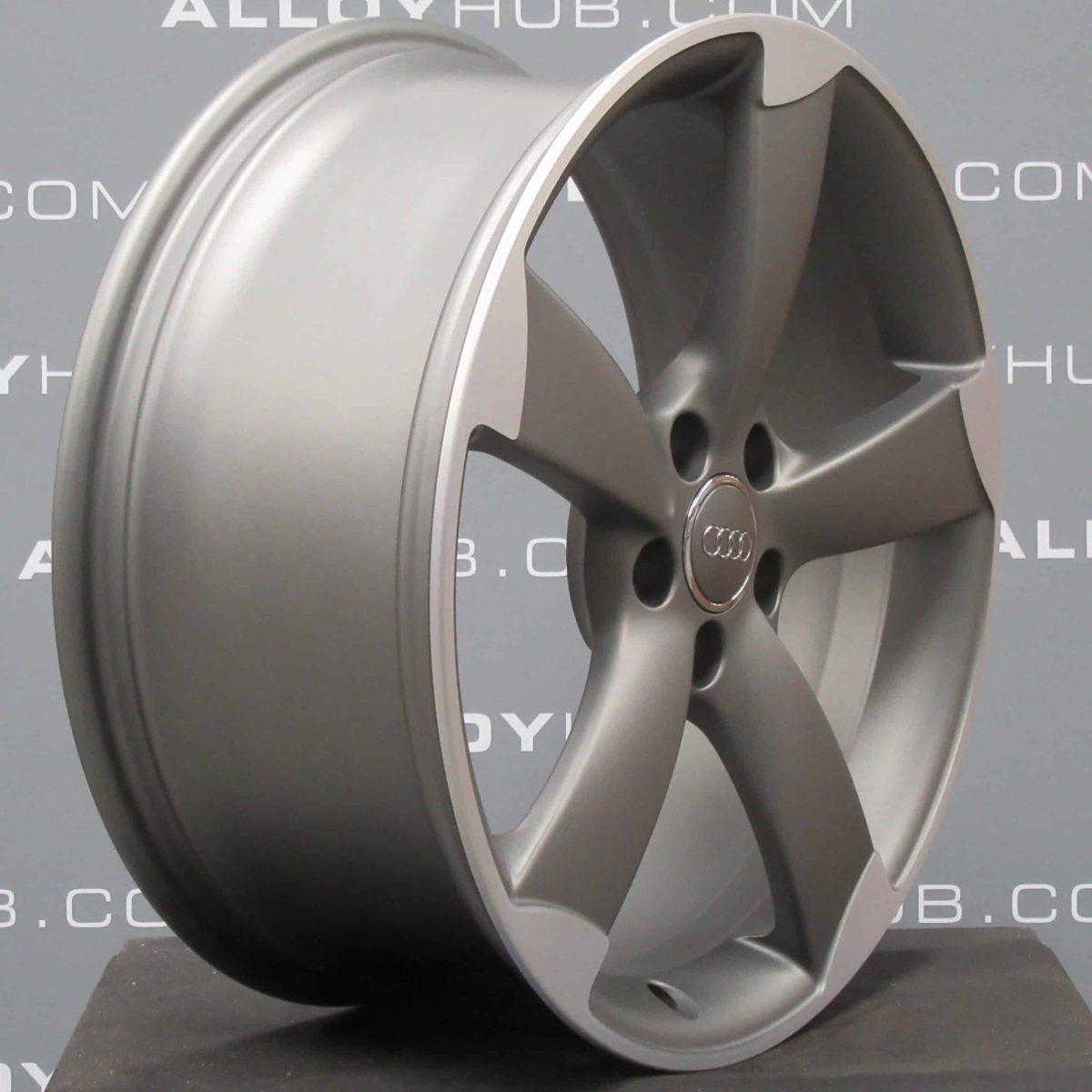"Genuine Audi A1 8 x Rotor Arm S-Line Black Edition 18"" Inch Alloy Wheels with Grey & Diamond Turned Finish 8X0 601 025 AR"
