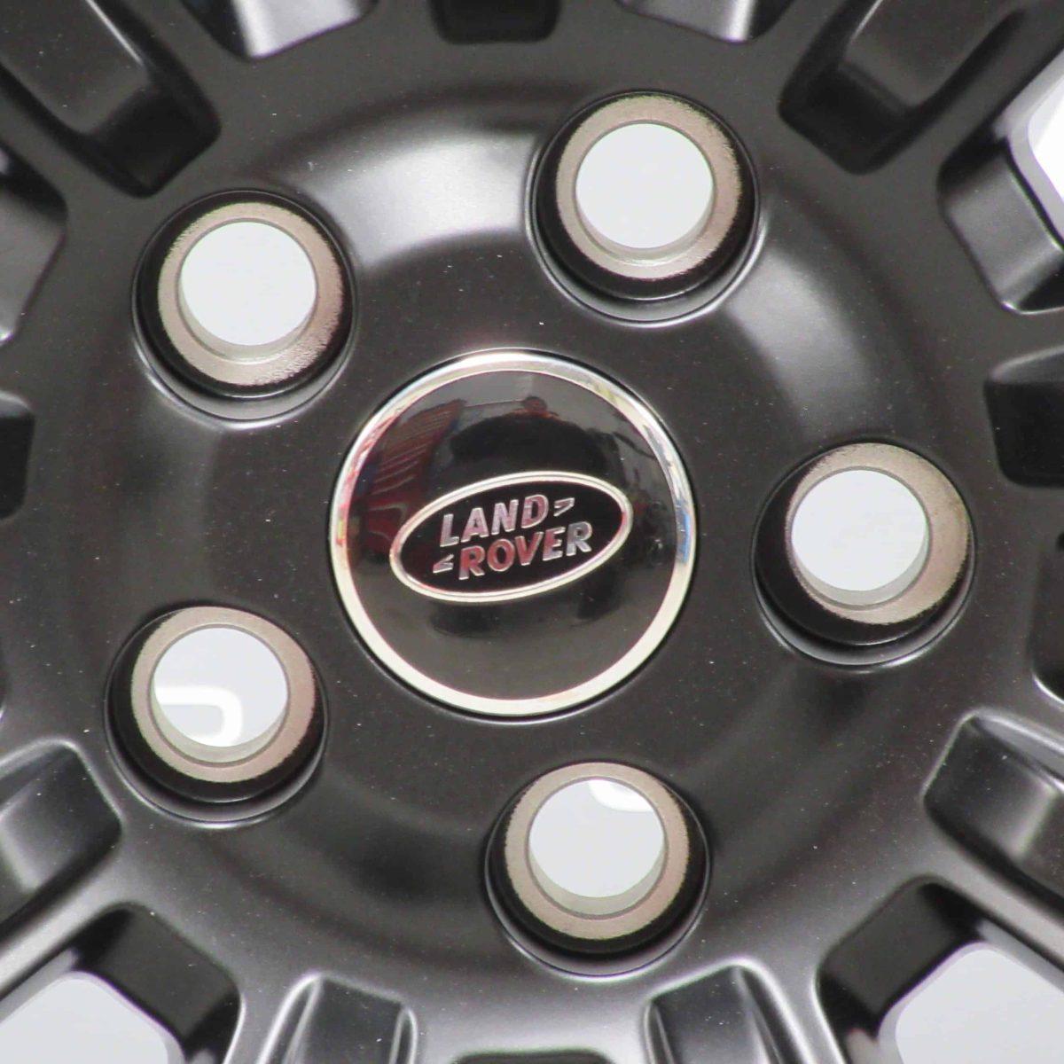 "Genuine Land Rover Range Rover Style 9001 21"" inch 9 Spoke Forged Satin Black Alloy Wheels VPLWW0085"