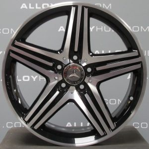 """Genuine Mercedes-Benz A/B Class AMG 18"""" Inch 5 Spoke Alloy Wheels with Gloss Black & Diamond Turned Finish A1764010402"""