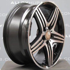 "Mercedes-Benz A/B Class AMG 18"" 5 Spoke Black/Polished Alloy Wheel"