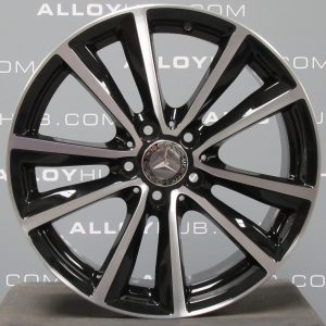 "Genuine Mercedes-Benz B-Class W246 Sport 18"" inch Alloy Wheels with Gloss Black & Diamond Turned Finish A2464010600"