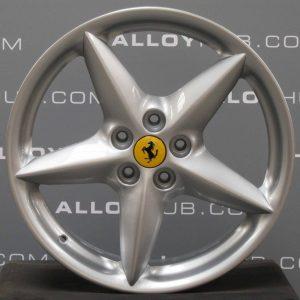 "Genuine Ferrari 360 Modena Spider BBS 5 Star Spoke 18"" inch Alloy Wheels with Silver Finish 164173 164175"