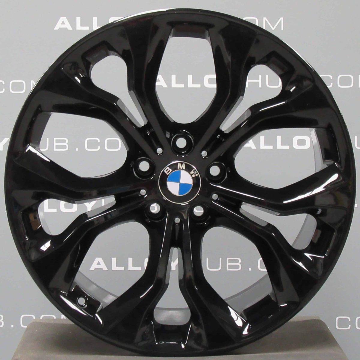 "BMW X5 X6 F15 F16 451M Sport Performance 20"" Inch Alloy Wheels with Gloss Black Finish 36116853959 36116853960"