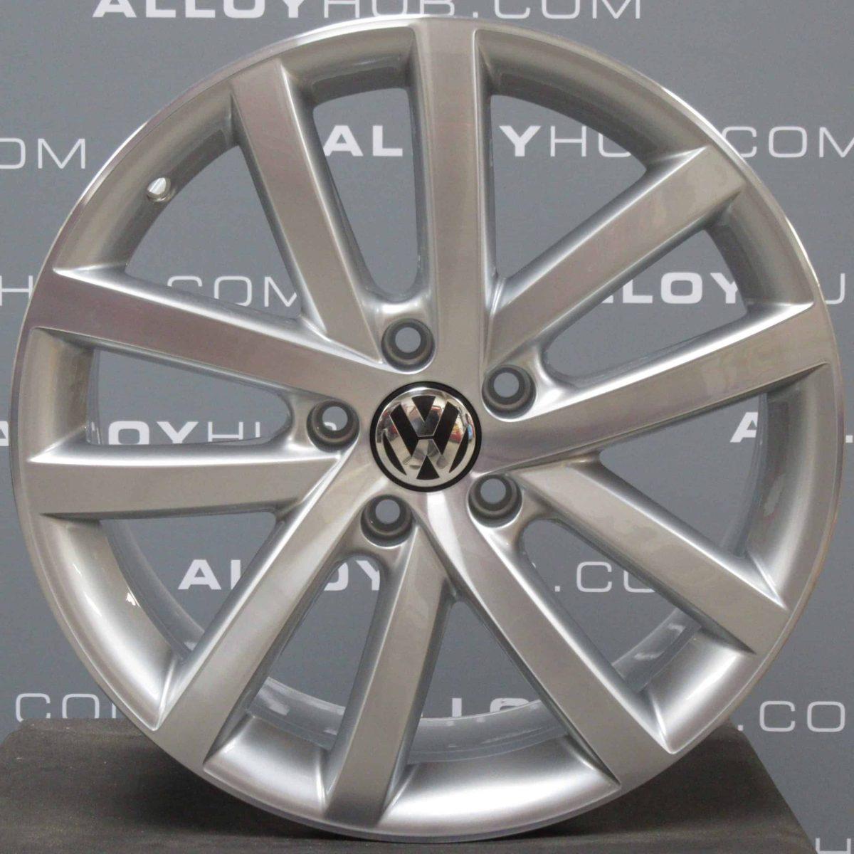 Genuine Volkswagen Golf MK6 Vancouver 5 Twin Spoke 18″ inch Alloy Wheels with Silver & Diamond Turned Finish 5K0 601 025 L