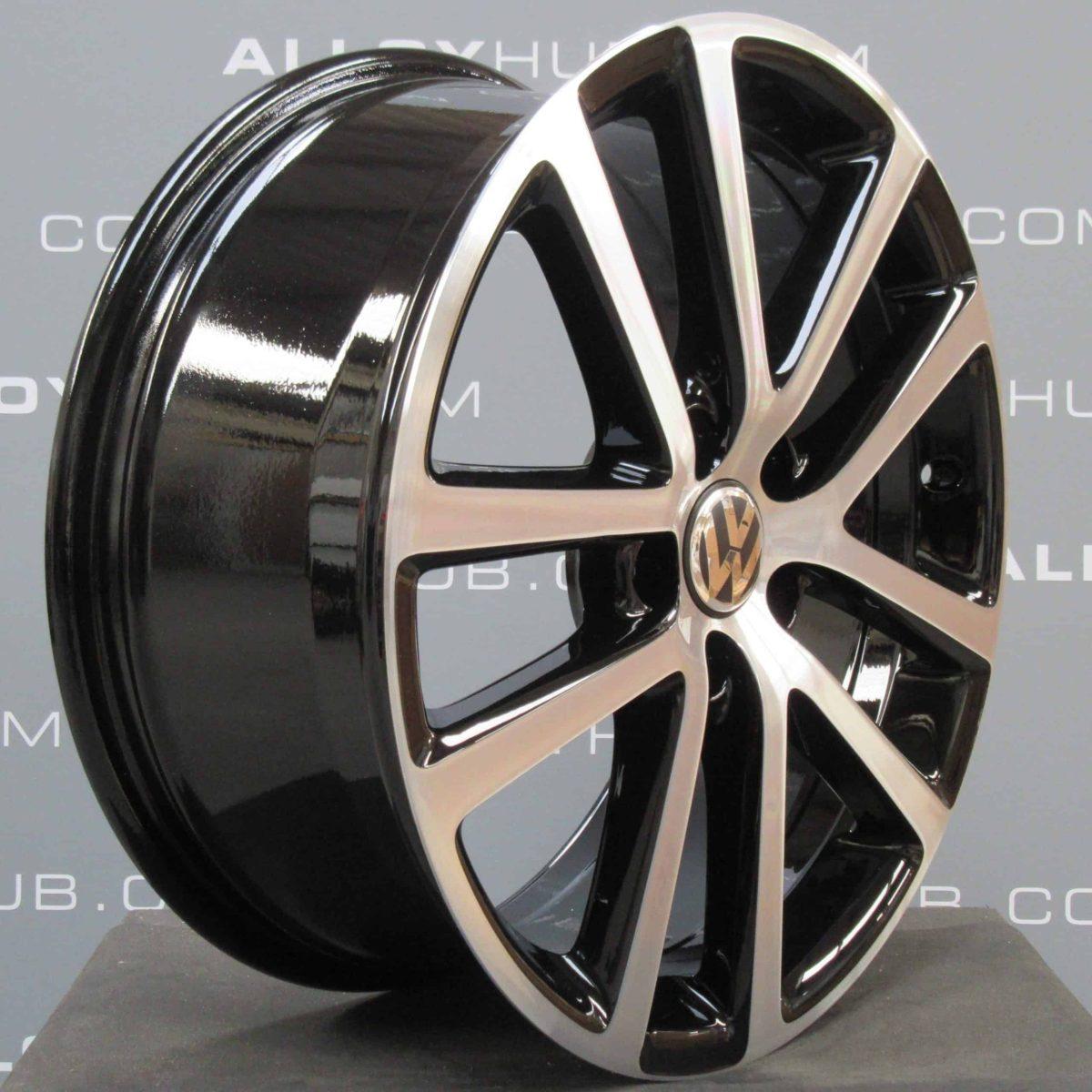 "Volkswagen Golf MK6 Charleston 5 Twin Spoke 18"" Gloss Black/Diamond Turned Alloy Wheel"