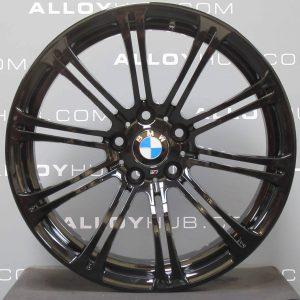 "Genuine BMW M3 E90 E91 E92 220M Sport 19"" Inch 10 Double Spoke Alloy Wheels with Gloss Black Finish 36112283555 36112283556"