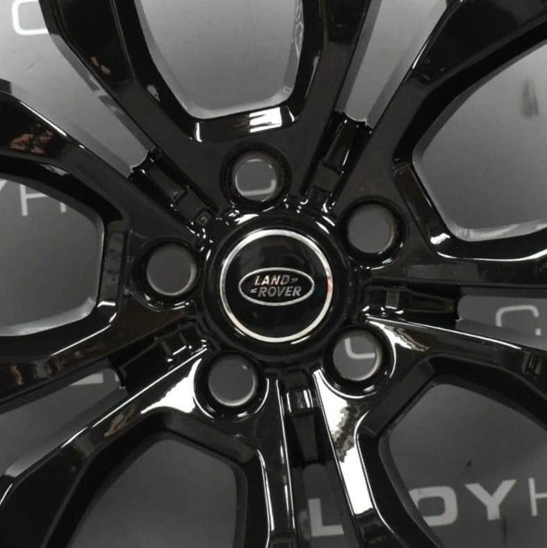 """Genuine Land Rover Range Rover Style 5005 21"""" inch 5 Split-Spoke Gloss Black Alloy Wheels LR044840"""