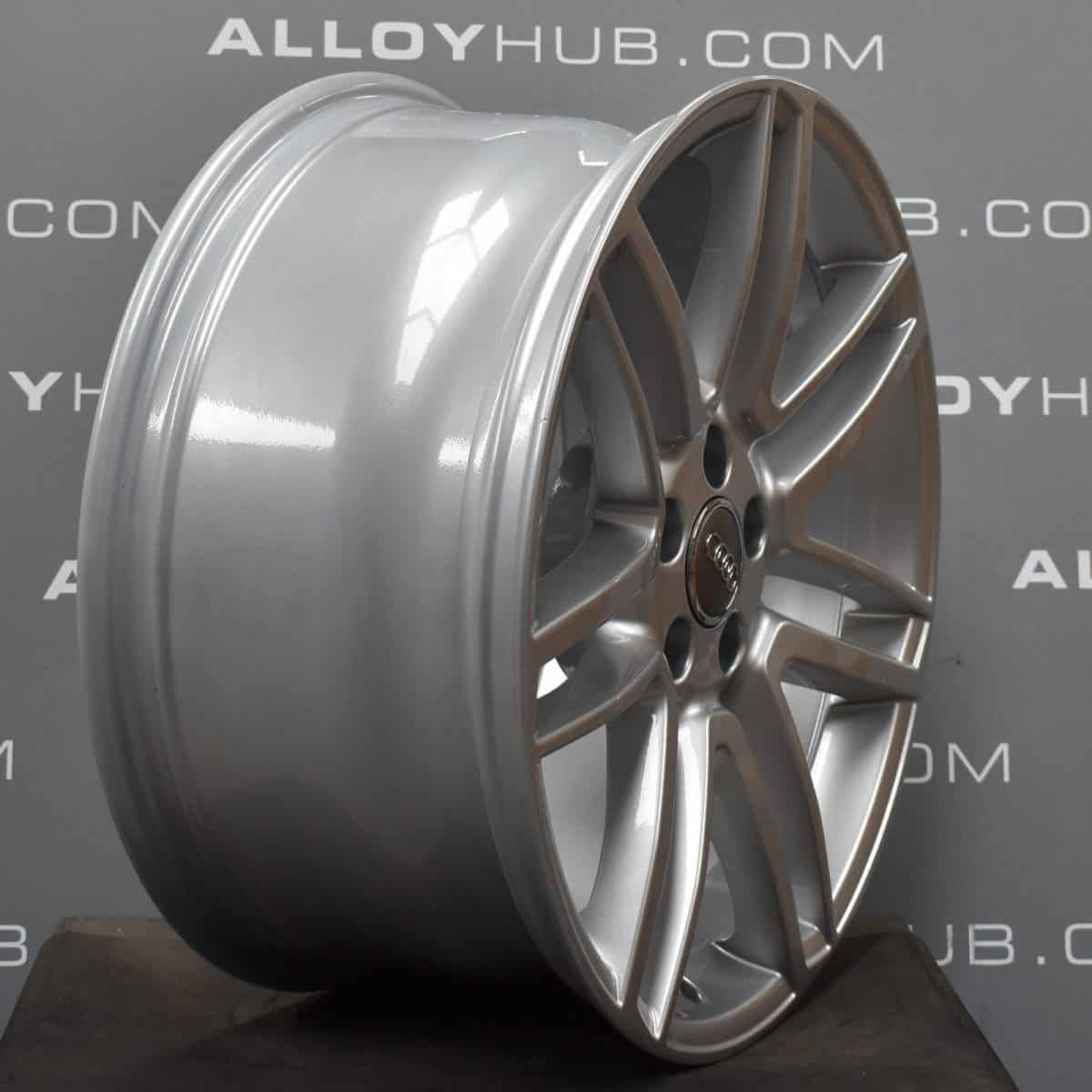 """Genuine Audi A7 S7 RS7 A8 S8 7 Double Spoke 19"""" Inch Alloy Wheels with Silver Finish 4H0 601 025 CA"""