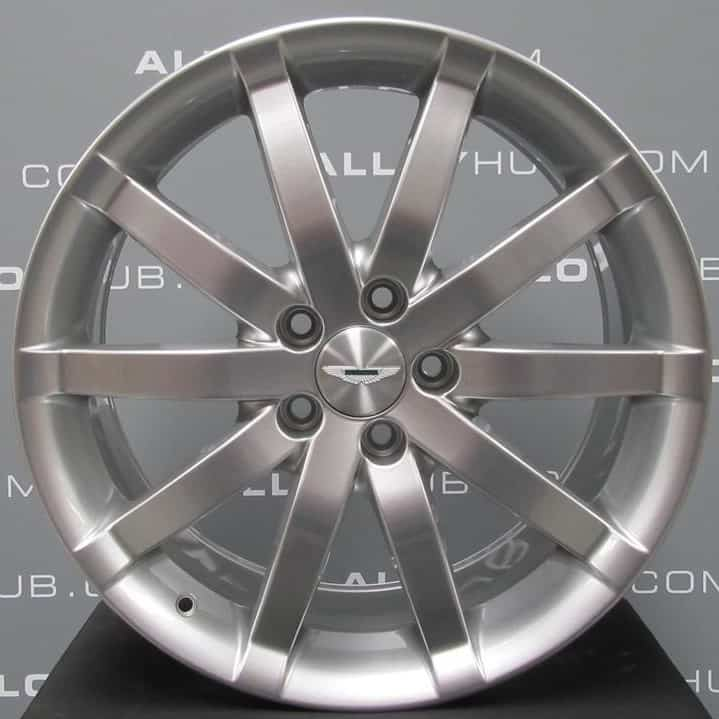 "Genuine Aston Martin DB9 Speedline 10 Spoke Silver 19"" Inch Alloy Wheels with Silver Finish 4G43-1007-AB, 4G43-1007-BB"