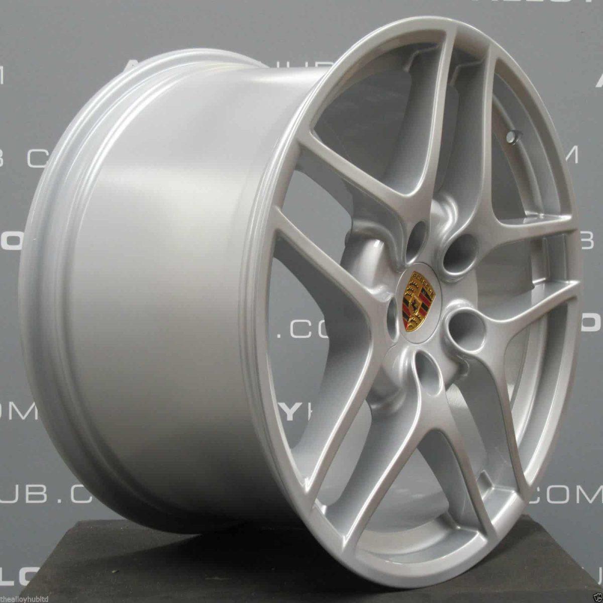 Porsche 911 997 Carrera 2/2S Gen 2 5 Twin Spoke 19″ Silver Alloy Wheel