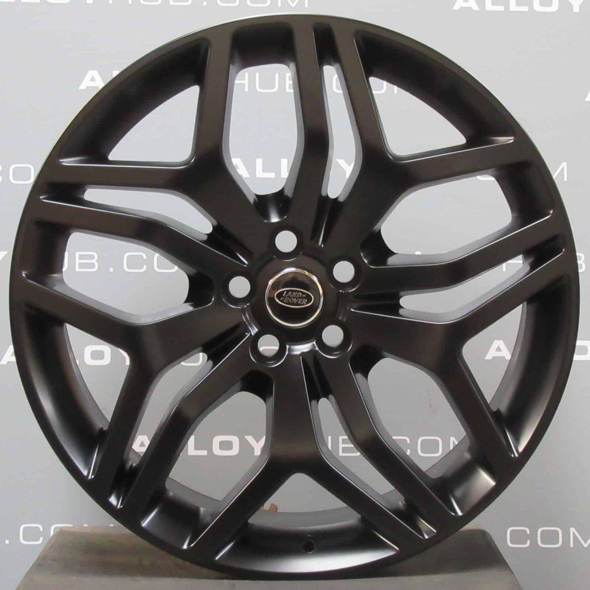 "Genuine Land Rover Range Rover Style 5008 Style 17 22"" inch 5 Split-Spoke Satin Black Alloy Wheels LR044839"