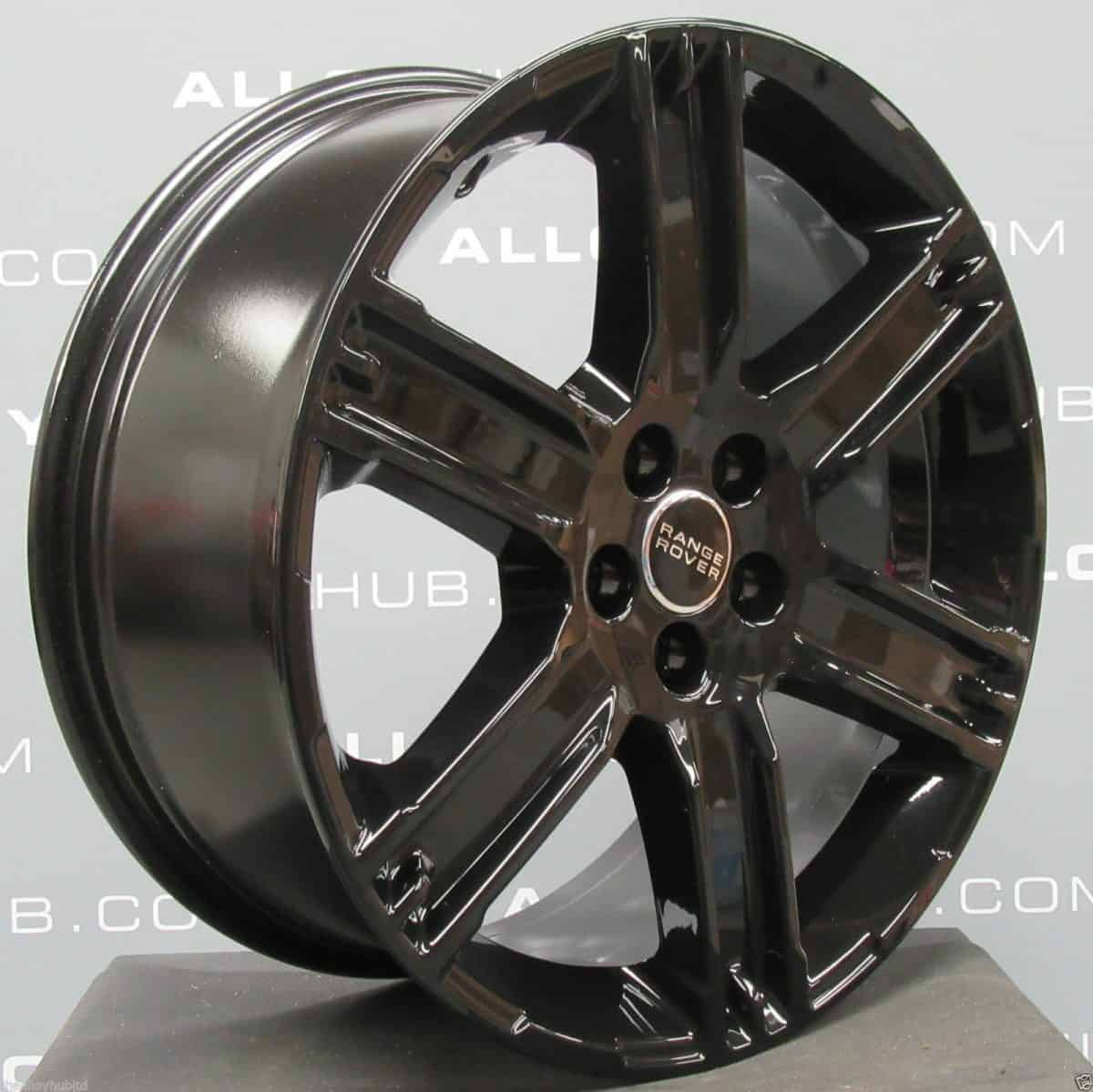 "Genuine Range Rover Evoque L538 19"" inch Style 4 6 Spoke Alloy Wheels with Gloss Black Finish LR050931"