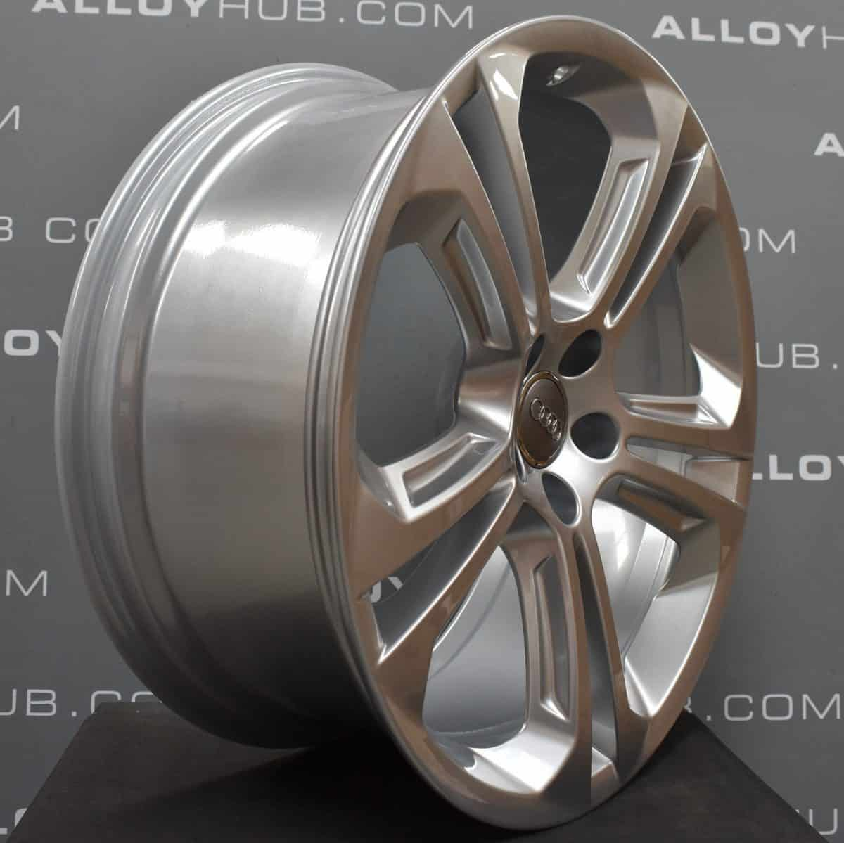 """Genuine Audi Q5 SQ5 8R 5 Twin Spoke 20"""" Inch Alloy Wheels with Silver Finish 8R0 601 025 BK"""