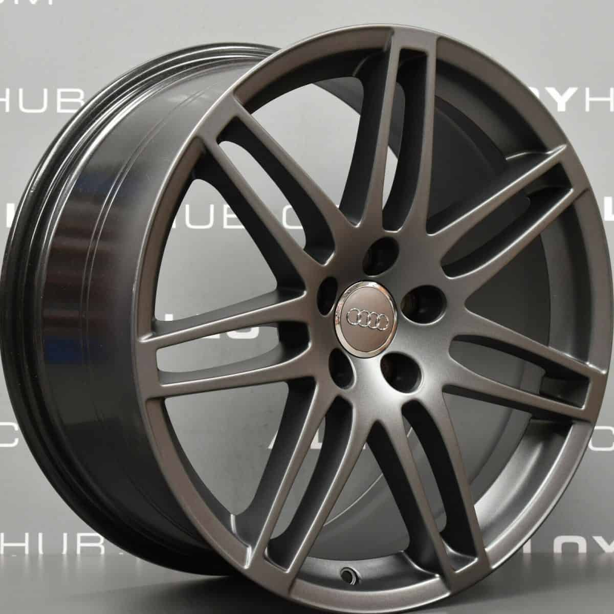 "Genuine Audi TT/TTS 8J MK2 19"" Inch 7 Double Spoke S-Line Black Edition RS4 Alloy Wheels with Satin Grey Finish 8J0 601 025 N"