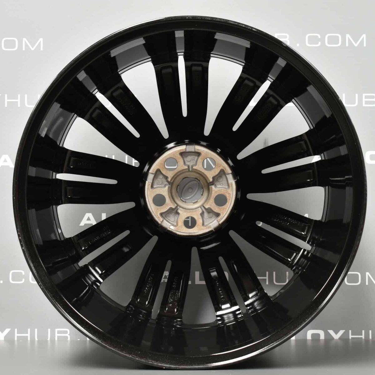 """Genuine Land Rover Range Rover Velar 22"""" inch Style 9007 9 Split-Spoke Gloss Black Alloy Wheels LR093331"""