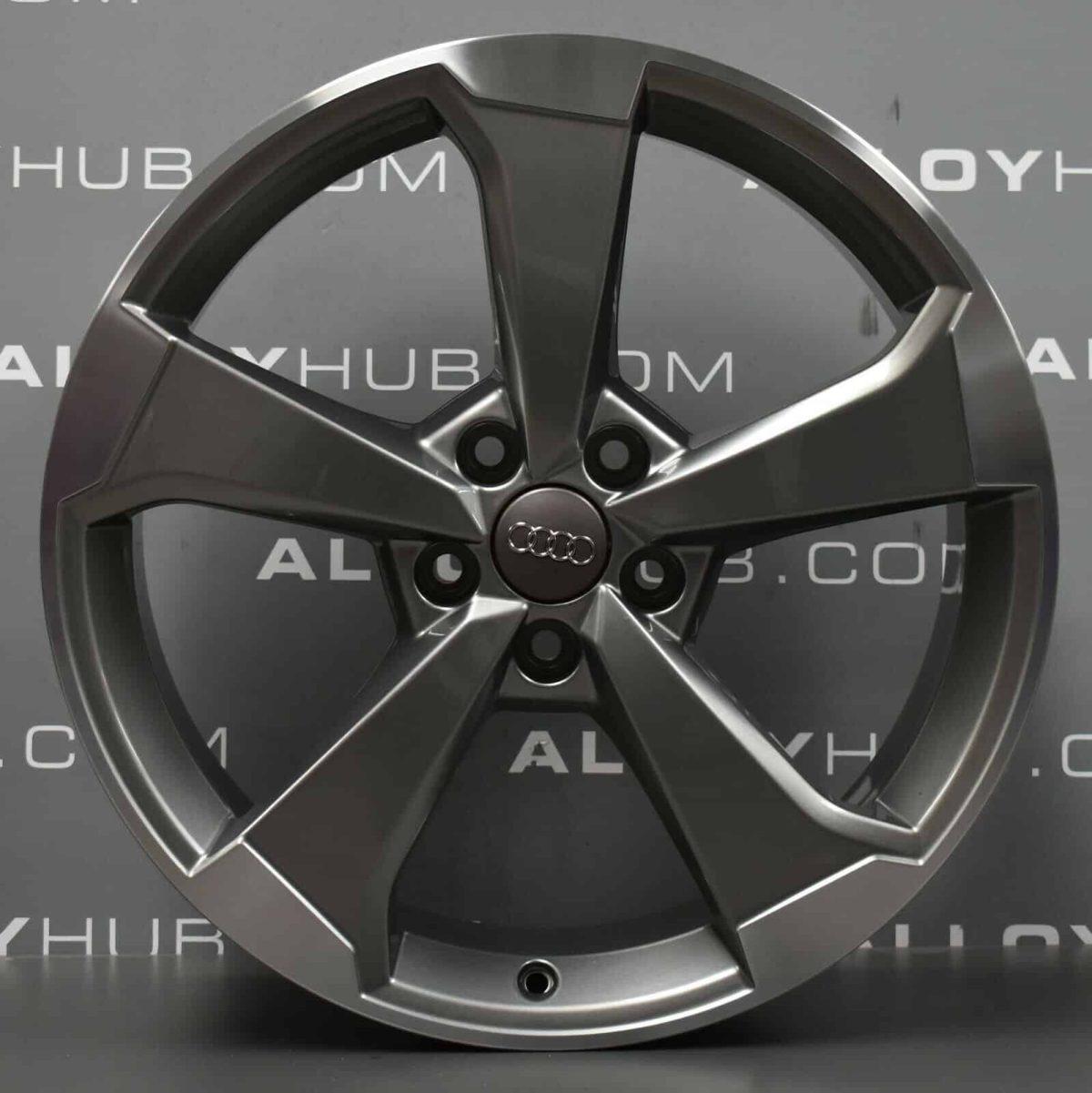 "Genuine Audi RS3/S3/A3 8V 5 Spoke 19"" Inch Alloy Wheels with Grey & Diamond Turned Finish 8V0 601 025 CF"