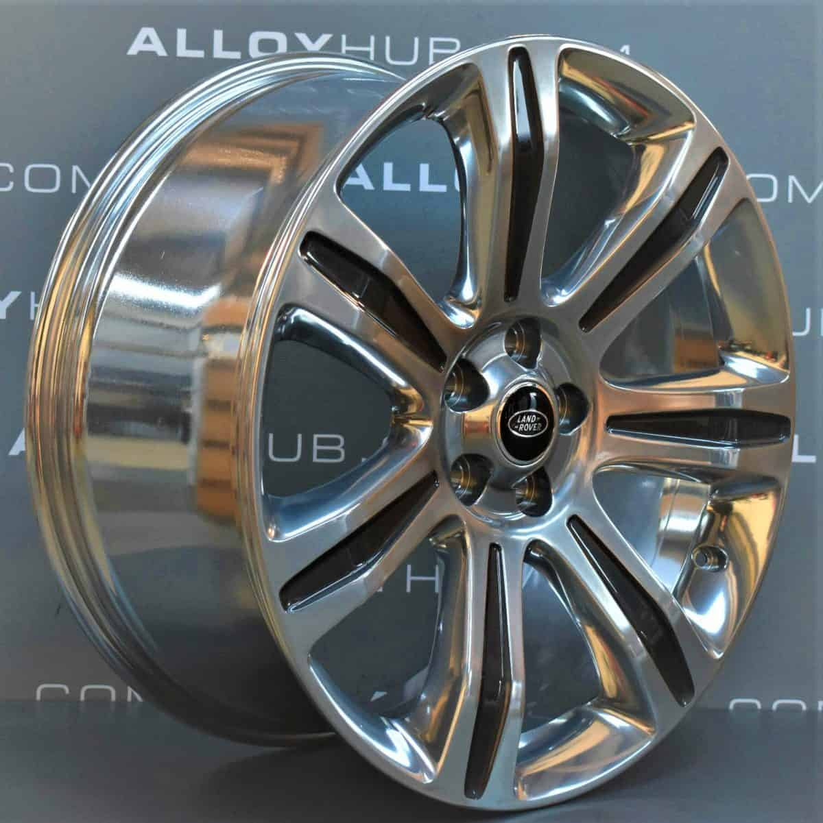 Genuine Range Rover SV L405/L494 Sport Autobiography Style 7006 21″ inch High Gloss Grey with Polished Finish Alloy Wheels DK5M-1007-AB