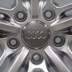 "Genuine Audi Q7 4L 21"" Inch 5 Segment Spoke Black Edition Alloy Wheels with Silver Finish 4L0 601 025 BK/BH"