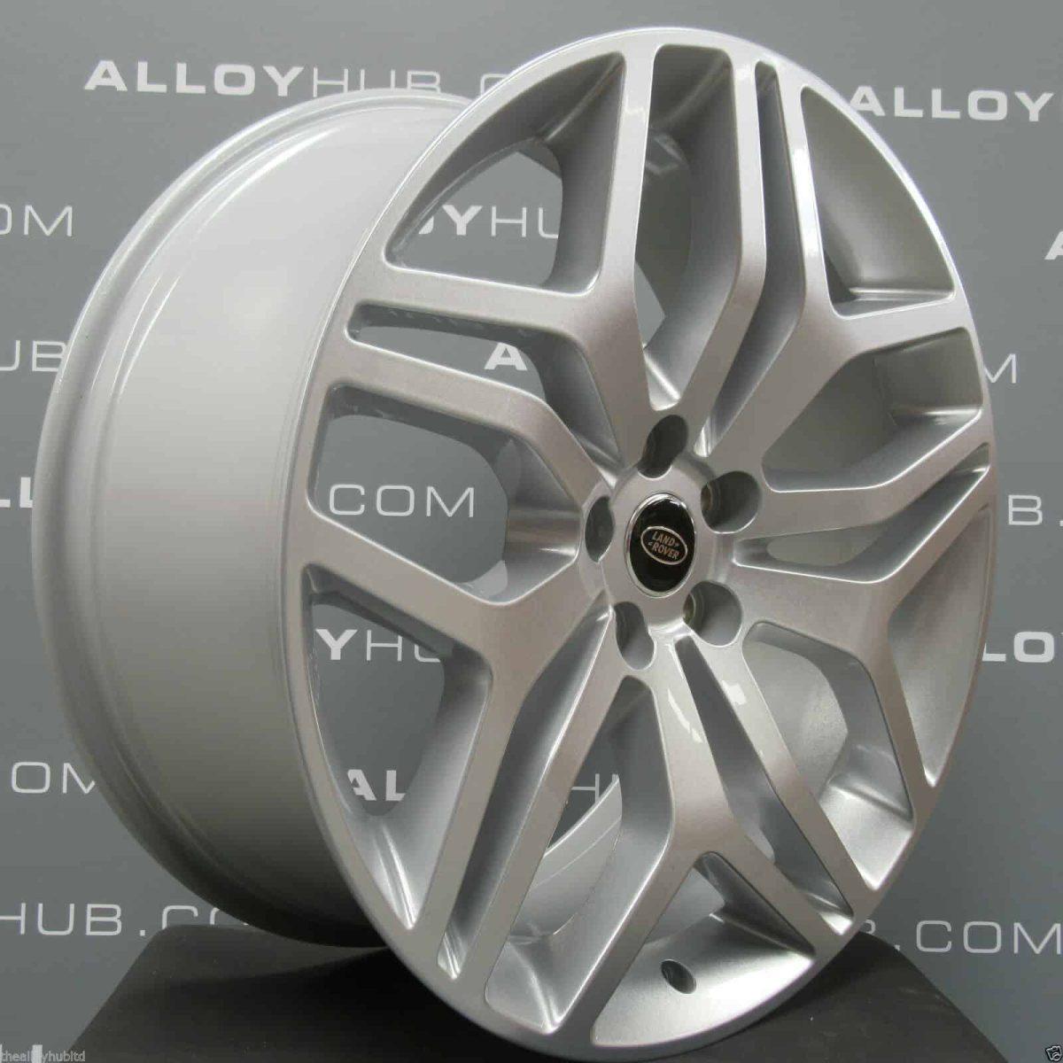 "Genuine Land Rover Range Rover Style 5008 Style 17 22"" inch 5 Split-Spoke Sparkle Silver Alloy Wheels LR044839"
