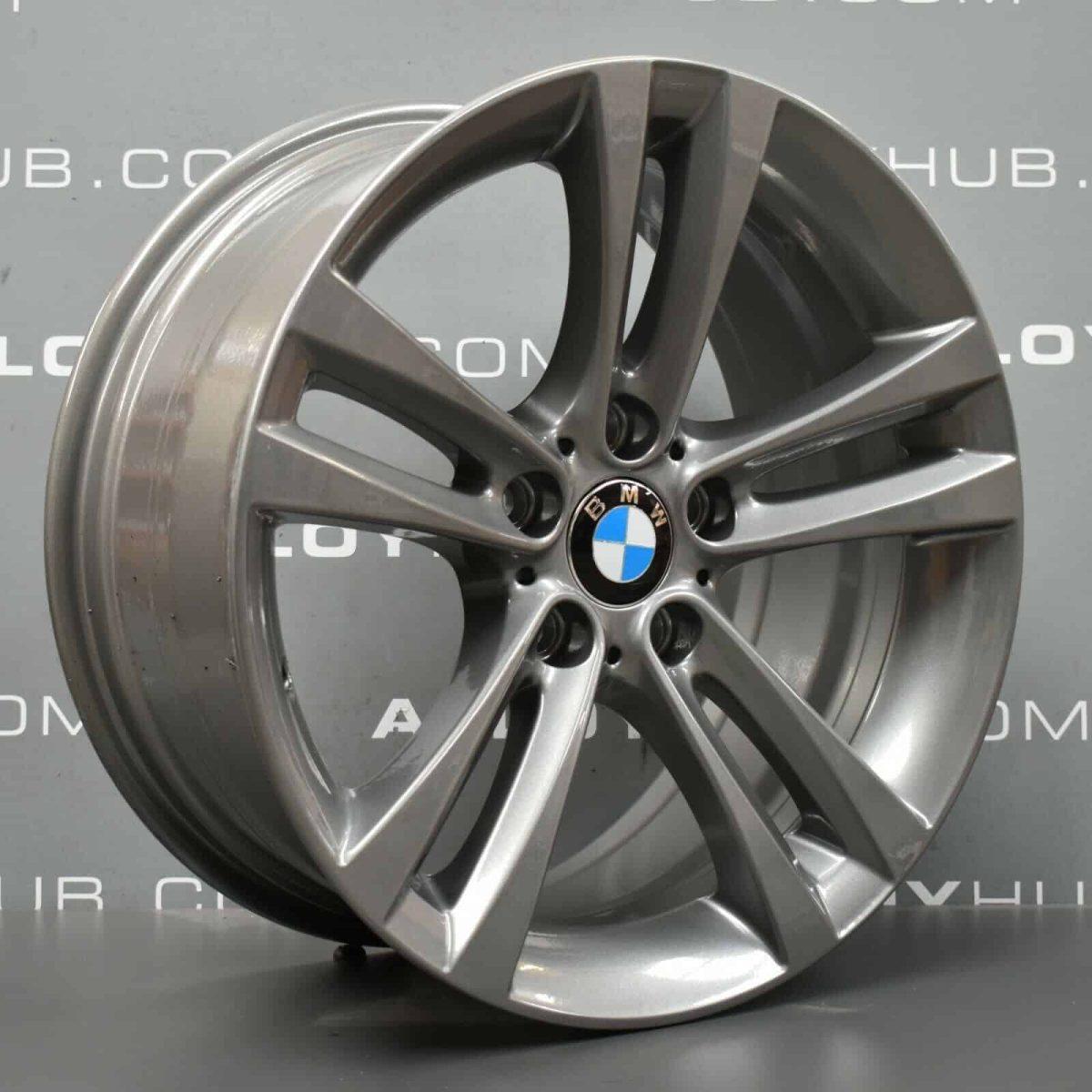 Genuine BMW 3/4 Series Style 397 M Sport 5 Twin Spoke 18″ Inch Alloy Wheels with Ferric Grey Finish 36116796247 36116868378