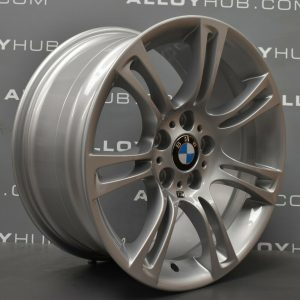 """Genuine BMW 5 Series F10 F11 350M Sport 7 Double Spoke 18"""" inch Alloy Wheels with Silver Finish 36117842650 36117842651"""