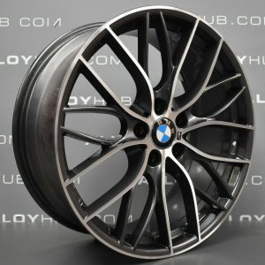 Genuine BMW 3/4 Series Style 405M Sport Performance 20″ Inch Alloy Wheels with Grey & Diamond Turned Finish 36116796264 36116796265