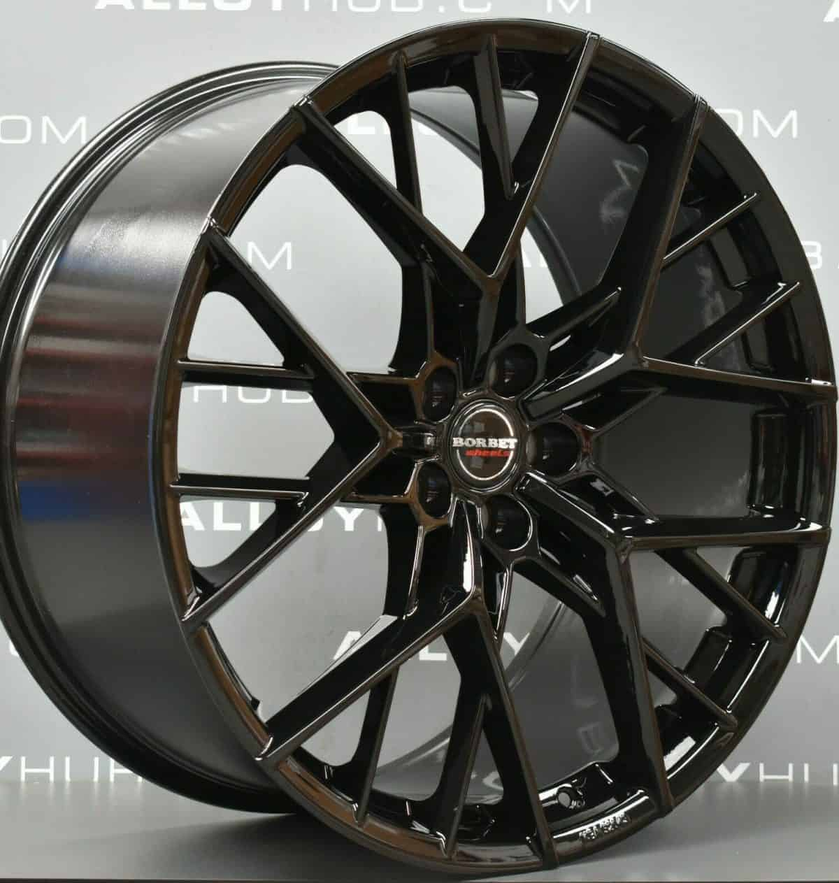 "Genuine Borbet Y Spoke 23"" inch Gloss Black Y Spoke Alloy Wheels"