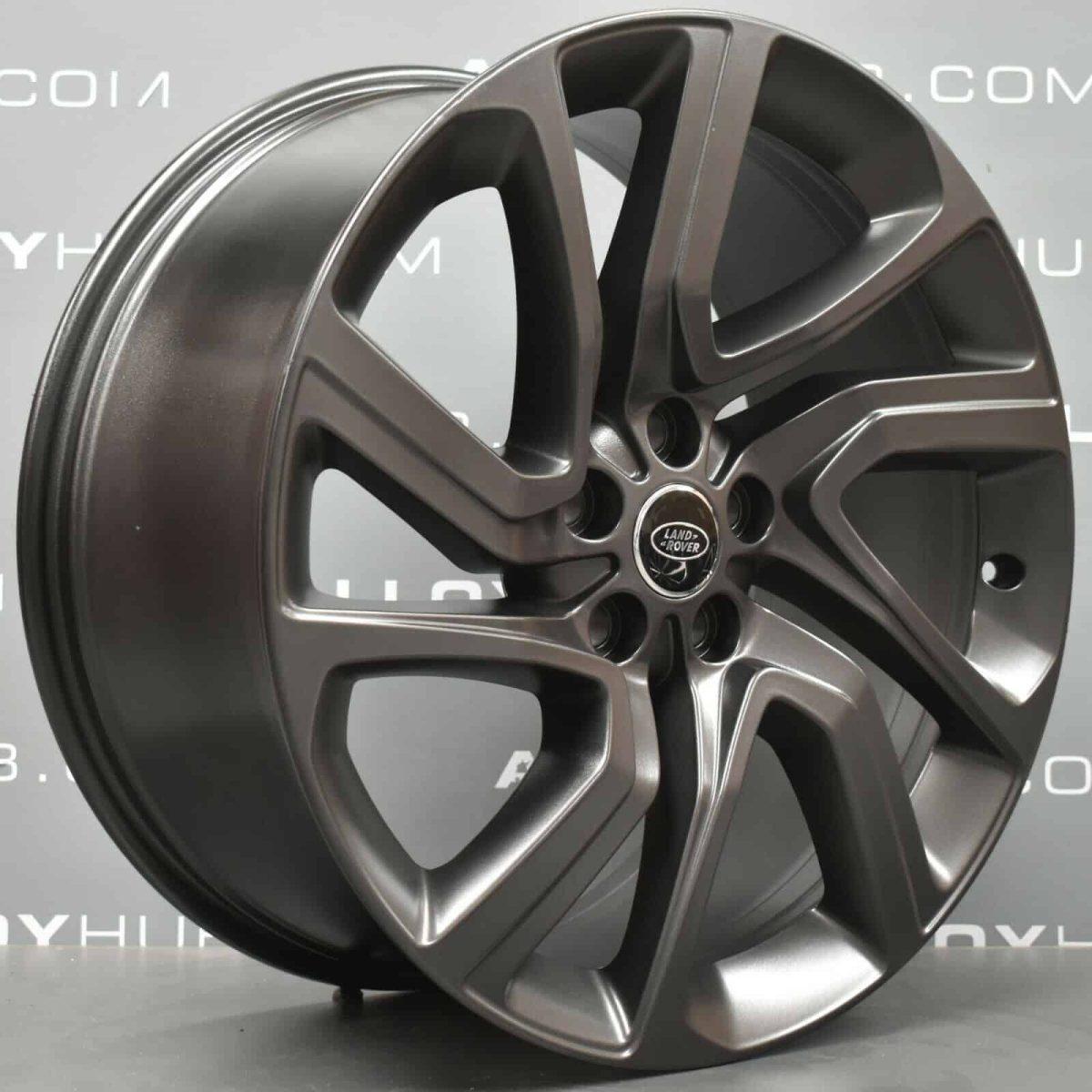 "Genuine Land Rover Range Rover Sport L494 Vogue L405 Style 5085 21"" inch 5 Split-Spoke Technical Satin Grey Alloy Wheels LR099136"