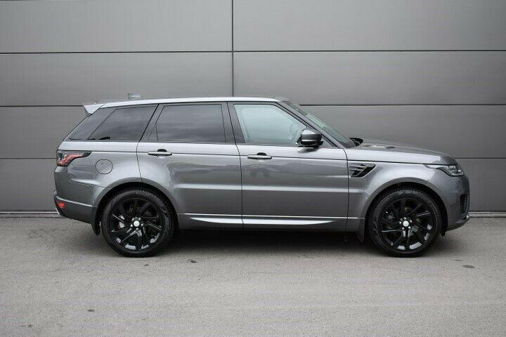 "Genuine Land Rover Range Rover Sport L494 Vogue L405 Style 5085 21"" inch 5 Split-Spoke Gloss Black Alloy Wheels LR099136"