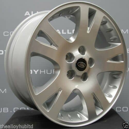 """Genuine Land Rover Range Rover 5 Twin Spoke 19"""" Inch Alloy Wheels with Sparkle Silver Finish RRC502280XXX"""