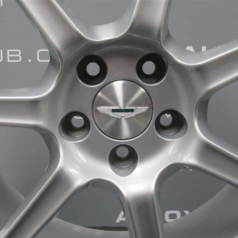 "Genuine Aston Martin Vantage 7 Spoke 19"" Inch Alloy Wheels with Silver Finish 6G33-1007-FA, 6G33-1007-FB"