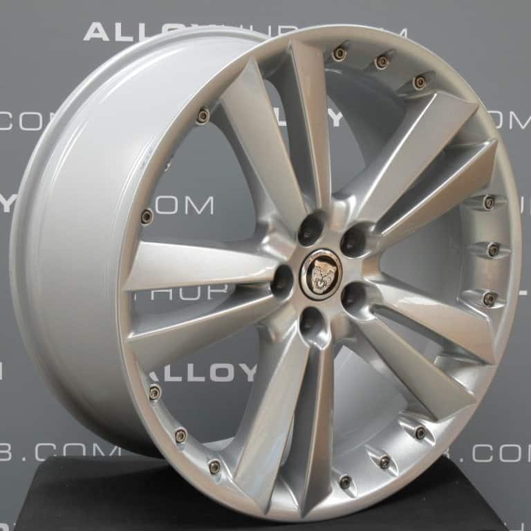 """Genuine Jaguar XF X250 Kalimnos 5 Twin Spoke 20"""" inch Silver Alloy Wheels 8W83-1007-EA"""