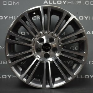"""Genuine Land Rover Range Rover Evoque L538 19"""" inch Style 1002 Alloy Wheels with Grey & Diamond Turned Finish LR048428"""