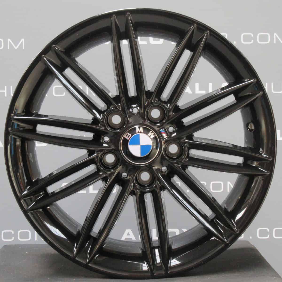 """Genuine BMW 1 Series 207M Sport 10 Double Spoke 17"""" Inch Alloy Wheels with Gloss Black Finish 36118036937 36118036938"""