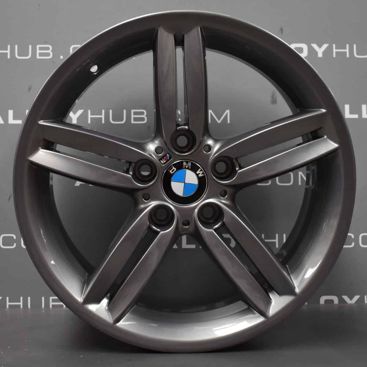 "Genuine BMW 1 Series 208M Sport 5 Twin Spoke 18"" Inch Alloy Wheels with Ferric Grey 36118036939 36117839305"