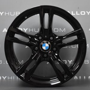 Genuine BMW 3/4 Series 400M Sport 18″ Inch Alloy Wheels with Gloss Black Finish 36117845880 36117845881