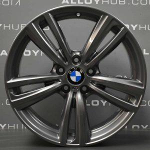 "Genuine BMW 3/4 Series Style 442M Sport 19"" Inch Alloy Wheel with Full Ferric Grey Finish 36117846493 36117846494"