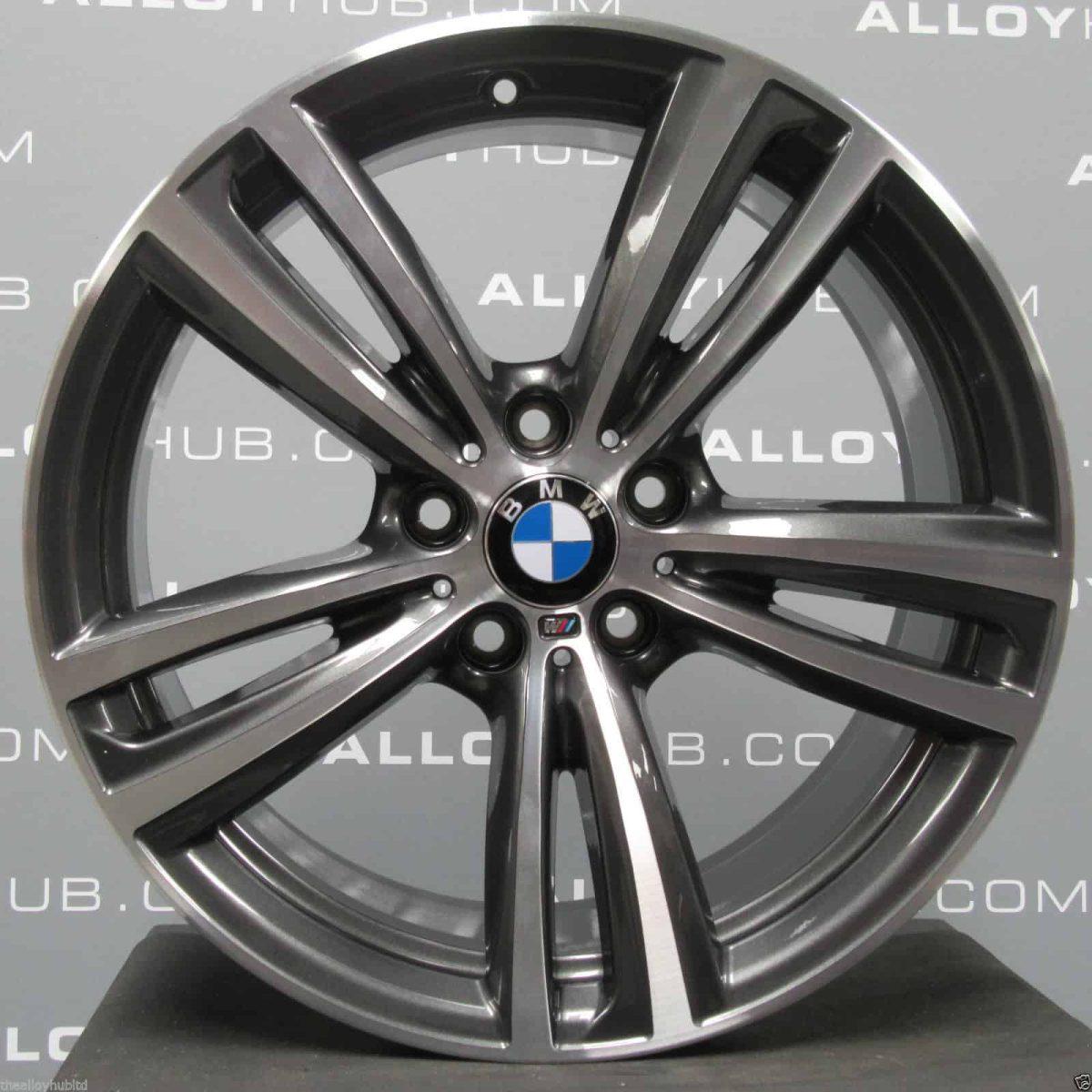 "Genuine BMW 3/4 Series Style 442M Sport 19"" Inch Alloy Wheel with Orbit Grey & Diamond Turned Finish 36117846493 36117846494"
