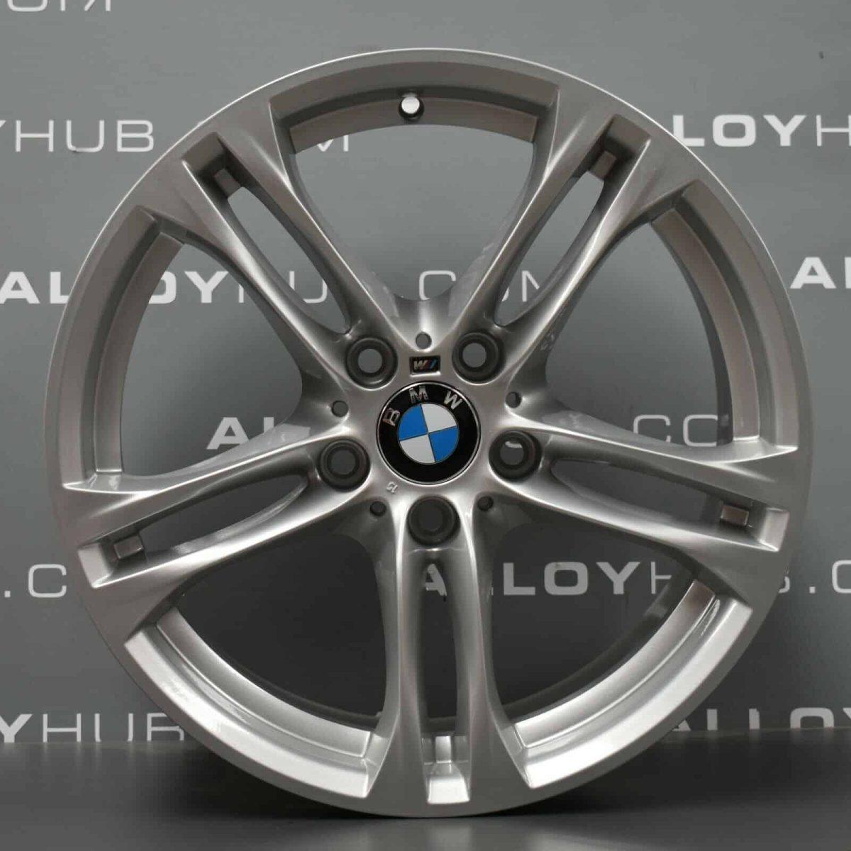 "Genuine BMW 5 Series F10 F11 613M Sport 5 Twin Spoke 18"" inch Alloy Wheels with Silver Finish 36117848572 36117848573"