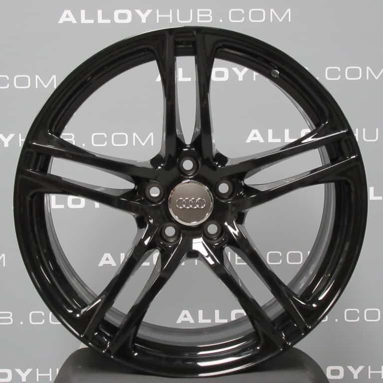 Genuine Audi R8 5 Twin Spoke 19″ Inch Alloy Wheels with Gloss Black Finish 420 601 025 AG4 EE, 420 601 025 C